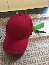 Bnwt men's Hugo Boss Red/green adjustable cap with black embroidered logo