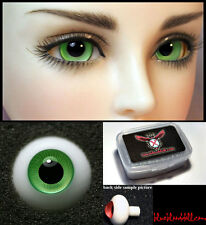 1/3 1/4 bjd 14mm jade green high quality glass doll eyes dollfie #JS-13 ship US