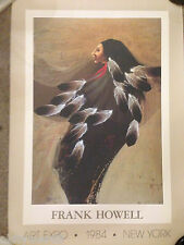 FRANK HOWELL HAND SIGNED ART EXPO NY 1984 CARDSTOCK POSTER NATIVE AMERICAN ART