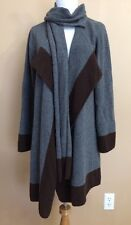 Lauren Ralph Lauren Small Open Front Cardigan Sweater Gray Long