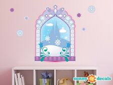Frozen Inspired Ice Castle Window Fabric Wall Decal