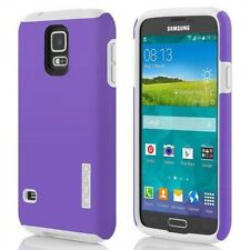NEW INCIPIO DUALPRO HARD SHELL CASE COVER FOR GALAXY S5 PURPLE WHITE SA-526-PUR