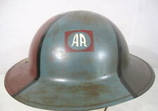 WWI AEF US Army M1917 Camouflage Helmet w/Liner & Chin Strap - 82nd Div - Repro
