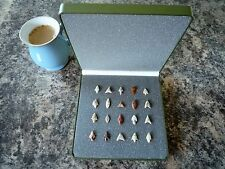 20 x Quality Miniature Neolithic Arrowheads in Display Case - 4000BC - (O033)