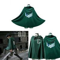 Attack on Titan Shingeki No Kyojin Cloak Cape Cosplay Clothes