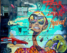 A0 SIZE CANVAS PRINT URBAN fear & loathing mad crazy GRAFFITI STREET ART