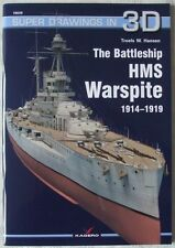 The Battleship HMS Warspite 1914–1919 - Super Drawings in 3D - Kagero ENGLISH