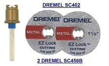NEW AUTHENTIC DREMEL SCLOCK SC402, SC456B CUTTING DISC 3 PIECE SET