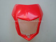 Honda CRF250M CRF250L Headlight Cover Visor Shroud Red 2012-2016