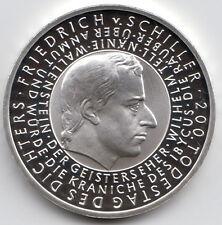 10 Euro Gedenkmünze Friedrich von Schiller 2005 Polierte Platte Silber 925/-