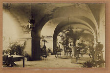 Carte Photo vintage card RPPC salon restaurant bar voutes vasques kh0137