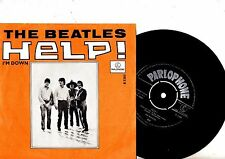 BEATLES 7' PS Help Holland Orange VARIATION cover TOP CONDITION RARE Dutch 45