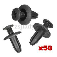 50x Universal Truck Car Plastic Bumper Fender Hole Rivet Fastener Trim Clips 6mm