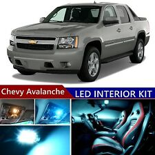 15 pcs LED ICE Blue Light Interior Package Kit for Chevy Avalanche 2007-2013