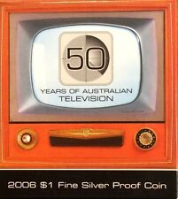 2006 $1 fine silver proof coin - 50 years of television