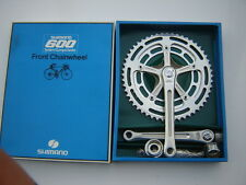 SHIMANO 600 EX ARABESQUE FC-6200 CRANKSET 42/52 + ENGLISH BB - NOS - NIB