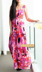 BNWT RRP$169.95 JACQUI.E Floral Print Maxi Dress Size 8 10 12 14 16 Pink Red