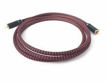 KM SOUNDS 2m Silver Plated cooper wires RCA Digital Co-Axial Interconnect