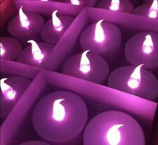 20pcs Candle LED Tea Light CANDLES DECORATION Xmas Tree Party Wedding PURPLE RED
