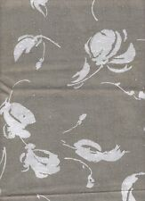 Fabric Textured Taupe With White Flowers 1+ Yard