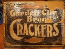 Garden City Brand Crackers Crate, Advertising Label Dove Tail Box  Vintage