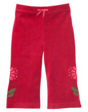 NWT 2T Gymboree  PERUVIAN DOLL Red Velour Flower Applique Yoga PANTS