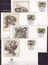 Moldovia 1993 - FDC -Slagen / Snakes (WWF/WNF)