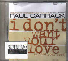 Paul Carrack-I Dont Want Your Love Promo cd single