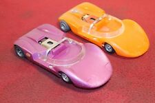 2 COX LA CUCARACHA +IFC CHASSIS MODEL SLOT CAR SET 1/24 WORKS LOOK******