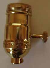 New On/Off Uno Thread Solid Brass Industrial Style Turn Knob Lamp Socket #SO272