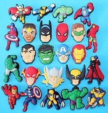Avengers Shoe Bracelet Charms 24 Cake Toppers Party Favours Piñata TOY XMAS NEW
