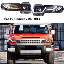 For 2007-2014 Toyota FJ Cruiser Led Halo Projector Headlights With Grille