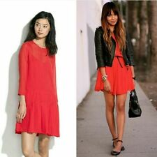 Alexa Chung Madewell Carine Silk Red Dress Sz 0