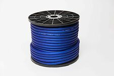 50 METRE 4 AWG GAUGE OVERSIZED CCA POWER CABLE FLEXIBLE TRUE 25MM2 BLUE WIRE