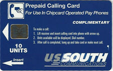 TK Telefonkarte 10u U.S. South Communications Complimentary Chip Card
