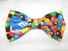 (1) PRE-TIED BOW TIE - COLORFUL m&m CANDY WITH FRIENDS