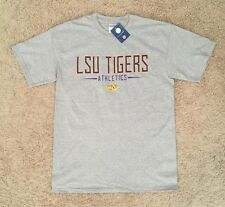 LSU Tigers Short Sleeve Gray Size Large T-Shirt Adult Unisex NCAA SEC Football