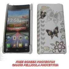 Pellicola+custodia BACK COVER FARFALLE BROWN per LG Optimus 4X HD P880 (C7)