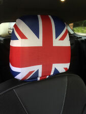 UNION JACK CAR SEAT HEAD REST COVERS 2 PACK DESIGN MADE IN YORKSHIRE