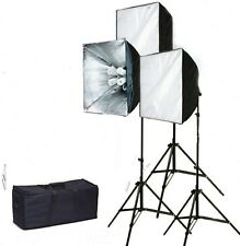 Pro 3 lights Photo Studio Video continuous softbox lighting kit still life photo