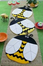 ~ NEW ~ FUN PATTERN ~ BEE HAPPY ~ PLACEMAT ~ TABLE RUNNER ~ TABLE TOPPER ~