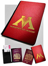 Ministry Of Magic Faux Leather Passport Cover Case Harry Potter .