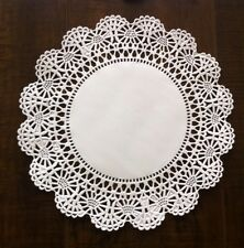 """8"""" Cambridge Paper Lace Doilies White -  Pack of 50"""
