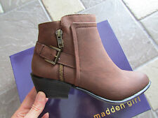 NEW MADDEN GIRL HUNTTZ COGNAC ANKLE BOOTS BOOTIES WOMENS 7.5 FREE SHIP