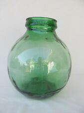 Vintage Viresa Demijohn Carboy Wide Mouth Green Glass Bottle Jar