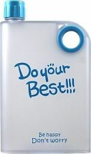Do Your Best A5 Notebook Style Ultra Slim Water Bottle 380 ml