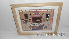 """Colleen Sgroi Art Print 'Hearth & Home' Wood Frame11"""" X9""""X.75"""" Vintage Sm Signed"""