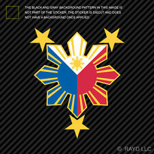 Filipino Pride Star Sun Sticker Die Cut Decal Philippines