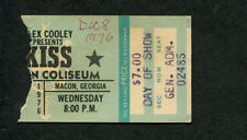 1976 Kiss Uriah Heep concert ticket stub Macon GA Rock and Roll Over Tour