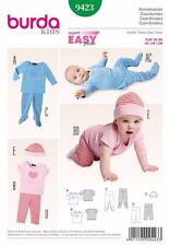 BURDA KIDS SEWING PATTERN EASY BABY COORDINATES CAP & LEGGINGS & TOP  9423